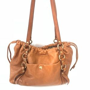 J. Crew Soft Leather Pull Bag Brown